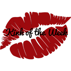 The red lips with kink of the week text in the middle