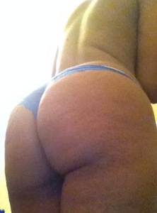 Cara's bottom in lovely blue panties in post titled Wild Dogs